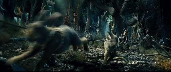 Le Hobbit, les lapins du traîneau de Radagast