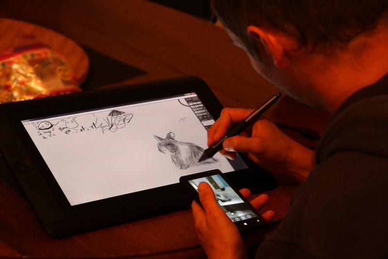 Challenge : dessiner un lapin angora…
