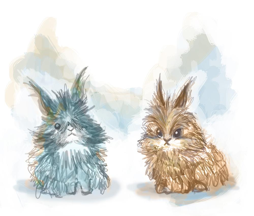 Les petits lapins illustration