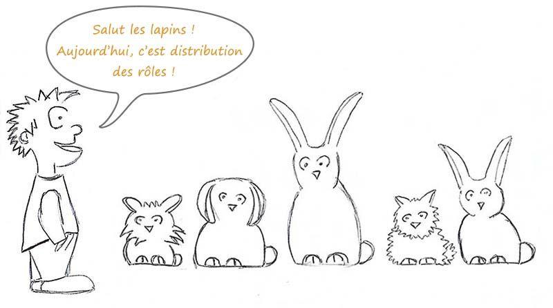 Spécisme, distribution des rôles entre les différentes races de lapins